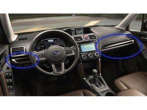 Subaru Interior Trim Kit Dashboard Gloss Black Silver